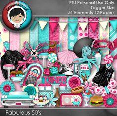 Designs by LK: D2D Blogtrain Freebie :: Fabulous 50's TS Kit