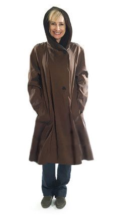 6361ece8f5bbd Black Scroll Mycra Pac Raincoat Donatella