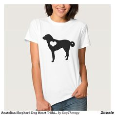 Anatolian Shepherd Dog Heart T-Shirt -- Cute shirt to show your love for your favorite dog breed! Customize for men, women, plus size, and kids!