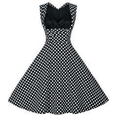 23.08$  Watch here - http://dixef.justgood.pw/go.php?t=168741603 - Retro Style Women's Sweetheart Neck Polka Dot Print Dress