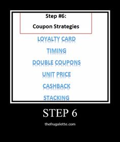 10 Step Couponing: Step 6: Coupon Strategies
