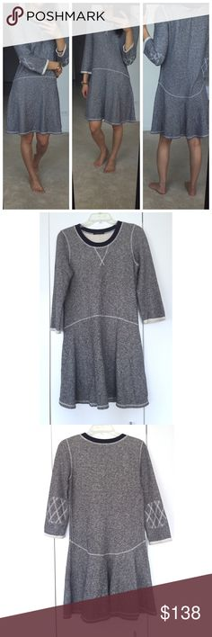 ⋙NEW LIST⋘ Rachel Zoe Grey Cozy Dress Cozy and comfortable Rachel Zoe dress with visible stitching. Cute elbow patch design.  Great condition, worn once. Size tag was cut off for comfort so not sure of actual size.  Estimate size 4-6. Ask for measurements if interested Composed of 88% Cotton, 12% Poly  Bundle and save. NO trades. Offers welcome Rachel Zoe Dresses Long Sleeve
