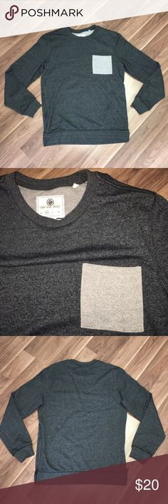 PacSun Heathered Grey Crewneck On The Byas brand from PacSun. Only worn one time, has zippers on side as pictured. Looks great with extended tee under or even by itself. Size Medium on the byas Sweaters Crewneck