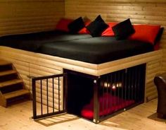 Funny pictures about Awesome Built-In Dog Bed. Oh, and cool pics about Awesome Built-In Dog Bed. Also, Awesome Built-In Dog Bed. Pet Furniture, Furniture Design, Unique Furniture, Bedroom Furniture, Furniture Ideas, Built In Dog Bed, Build A Dog House, House Dog, Tiny House