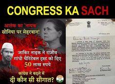 Ek taraf secular hone ka drama, dusri taraf Zakir Naik ko donation... Ye hai Congress ka asali chehra.... #CongressAgainstPeace