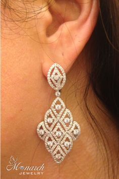Diamond earrings! ~ Live from Las Vegas JCK jewelry show with Monarch Jewelry