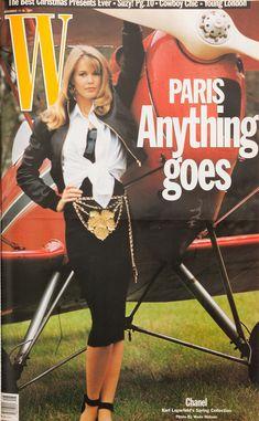W Magazine's Supermodel Cover Girls - Claudia Schiffer on the cover of W Magazine November 1991