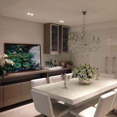 Sala de jantar belíssima. Amei❣️ Projeto PMZ Arquitetura Me encontre também no @pontodecor {HI} Sna