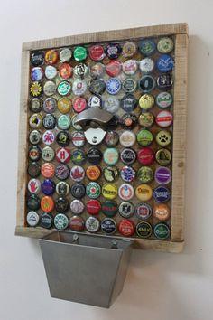 99 Beer Bottle Caps on the Wall....Custom Bottle Cap Beer Opener