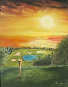 Welcome To My Signed Florida Theme Original Oil… Golf Painting, Sky Painting, Seascape Paintings, Acrylic Painting Canvas, Golf Art, Mini Canvas Art, Hand Painted Canvas, Sports Art, Painting Inspiration