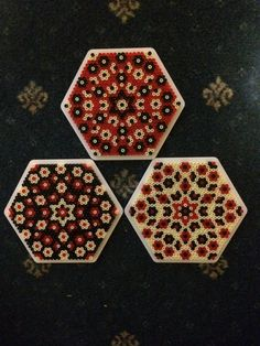 Hama beads hexagon 11