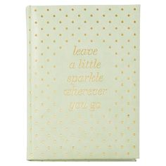 Small Embossed Journal - Leave Sparkle, Mint by Indigo | Hard Cover Journals Gifts | chapters.indigo.ca