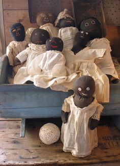 Adorable old black dolls
