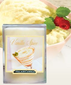 Vanilla Spice- 3 x 4 Pillar  Scented Candles | Village Candle