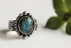 Sterling Silver Rings For Women, Labradorite Ring, Labradorite Engagement Ring, Sundance Style, Northern Lights Ring, Labradorite Jewely