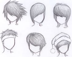how to draw anime boy hair step by step for beginners - Google Search