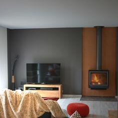 Décoration salon - poele, industrielle, gris, cuivre, peau de bete - D.CO by Maya Des bulles de couleurs dans votre intérieur...