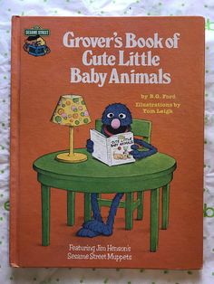 Vintage 1980 Grovers Book Of Cute Baby Animals By B.G. Ford. Great book for beginners. Book is in good, vintage, preowned condition.
