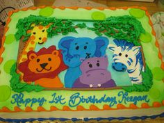 Cute Jungle Birthday Cake