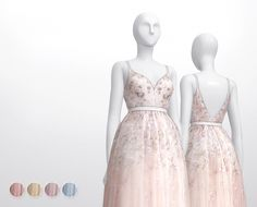 Soft-pink embellished tulle gown at Rusty Nail • Sims 4 Updates