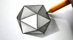 How to Draw a 3D Hexagon