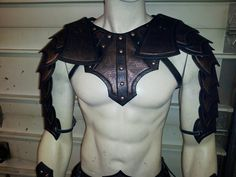 Fantasy Gladiator Leather Armor Mantle and by SharpMountainLeather, $299.99