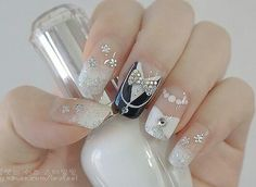 Perfect wedding nail art