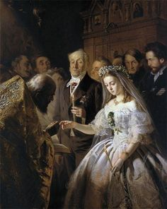 Vasili Pukirev - 1832 – 13 June 1890) was a Russian painter and illustrator. Unequal Marriage 1862. http://en.wikipedia.org/wiki/Vasili_Pukirev