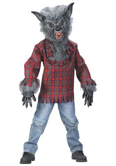 CJ Wants to be this Werewolf! Image detail for -Howling Werewolf Child Costume - Scary Kids Halloween Costumes Scary Halloween Costumes, Boy Costumes, Up Halloween, Costume Ideas, Children Costumes, Grease Costumes, Halloween Tricks, Animal Costumes, Woman Costumes