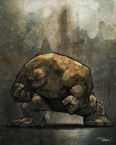 Thing Marvel Comics Art