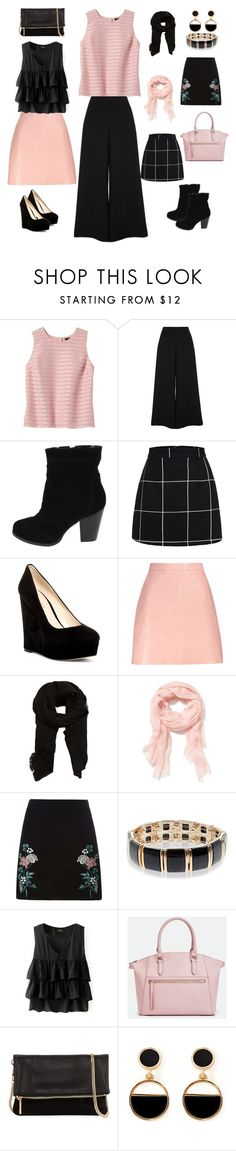 """""""Pink Outfit"""" by indraniy on Polyvore featuring Banana Republic, River Island, Nine West, MANGO, Old Navy, Dorothy Perkins, Accessorize, JustFab, Neiman Marcus and Warehouse"""