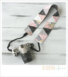 try the angle camera strap cover  daybreak by bluebirdchic on Etsy, $40.00