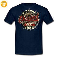 Geburtstag 60 Original 1956 RAHMENLOS® Männer T-Shirt von Spreadshirt®, XXL, Navy - Shirts zum 60 geburtstag (*Partner-Link)