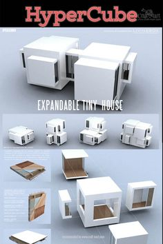 Are you choosing between DIY and High-Tech Prefab Tiny House? Tiny House Trailer, Tiny House Cabin, Modular Housing, Modular Homes, Modern Tiny House, Tiny House Design, Folding House, Mobile Architecture, Smart Home Design