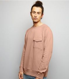 Pink Pocket Front Sweater | New Look