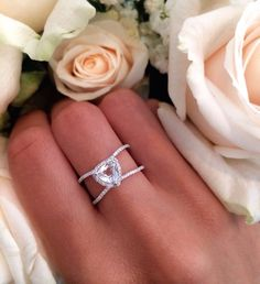 14kt white gold and diamond Double Band Topaz Trillion ring – Luna Skye by Samantha Conn