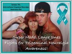 Thank you Lance Jones for wearing teal on our awareness day on Trigeminal Neuralgia, English Actresses, A Decade, Short Stories, Supermodels, Sexy Men, The Cure, Facial, Teal