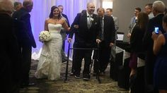 Matt Ficarra achieved his goal of walking down the aisle with his bride at his wedding Saturday night at the Doubletree Hotel in DeWitt.