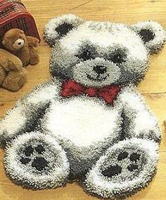 Teddy latch hook rug:
