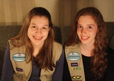 These two Girl Scouts took a stand against the use of palm oil, which damages orangutan habitat, in Girl Scout cookies.