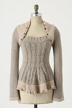 sweater refashion inspiration. pic only. get rid of bobbles on bttm edge
