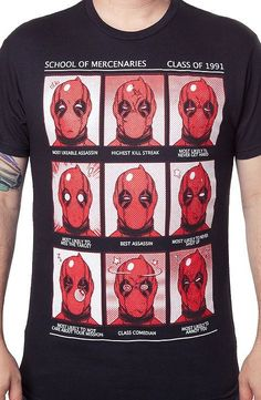 Deadpool School of Mercenaries T-Shirt - Marvel Comics T-Shirt