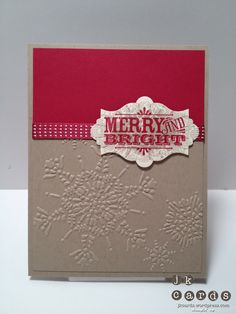 Stampin' Up!, Freshly Made Sketches #57, Affection Collection, Merry & Type, Northern Flurry Embossing Folder, Apothecary Accents Framelits, Raspberry Ripple Stitched Satin Ribbon