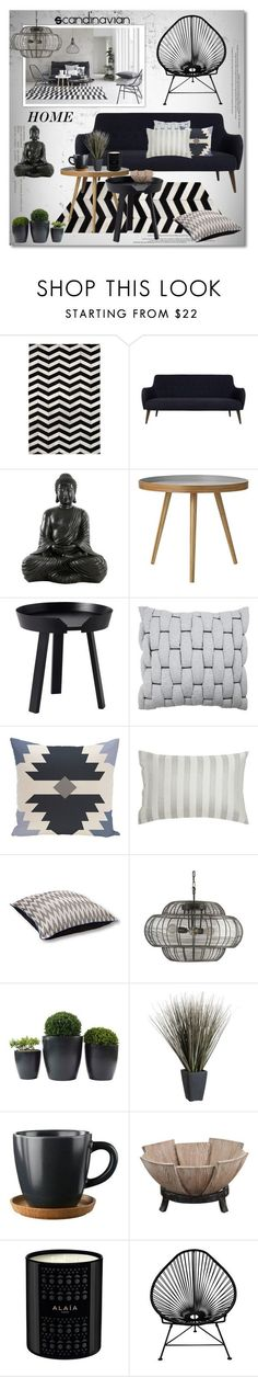 """Scandinavian home"" by helenevlacho on Polyvore featuring interior, interiors, interior design, home, home decor, interior decorating, Jayson Home, Bloomingville, Muuto and Vue"