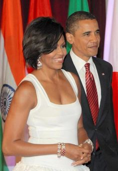 The President and First Lady simply glowing. :)