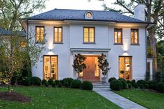 A leader of long standing in the Washington, DC, area, The Banks Development Co continues to be a trusted innovator in the building design community. Classic House Exterior, French Exterior, Dream House Exterior, Facade Design, Exterior Design, Thatched House, House Front Design, Transitional House, Plantation Homes