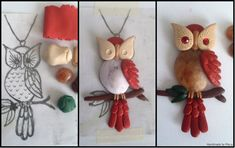 Polymer Clay Owl WIP by ~Maca-mau on deviantART