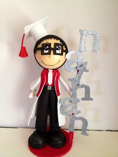 """Celebrate your graduate's special day with these Custom Graduate Fofucha Dolls. Can make a lovely and unique gift, decor, centerpiece or even a keepsake gift.Foam doll are handmade from foamy material and hand painted, Doll comes with base included. Measures approx. 11-12"""" height  I hand customize my orders,you can specify some Physical Features such as: * Hair Color* * Eyes Color* * Curly or Straight* *Skin color *Gown color Any questions feel free to message me. #Graduation #Crafts…"""