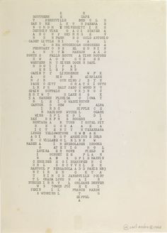 Carl Andre, 1968