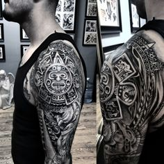 0221eb993e68e Aztec Tattoos for Men | Projects to try | Mexican tattoo, Aztec ...